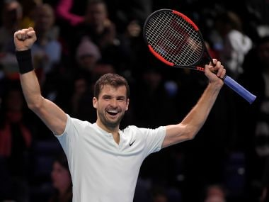 ATP Finals: Grigor Dimitrov rallies to defeat Jack Sock and set up title clash with David Goffin
