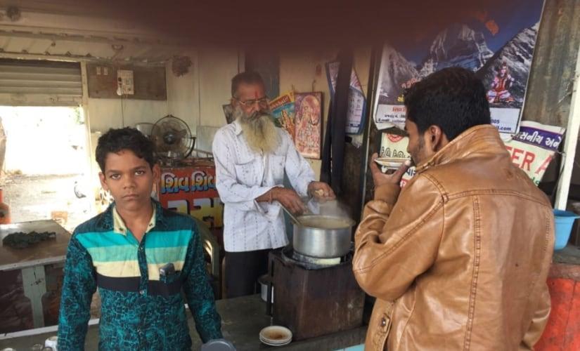 The tea-seller in Jamnagar. Firstpost/Amitesh