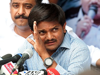 File image of Patidar leader Hardik Patel. PTI