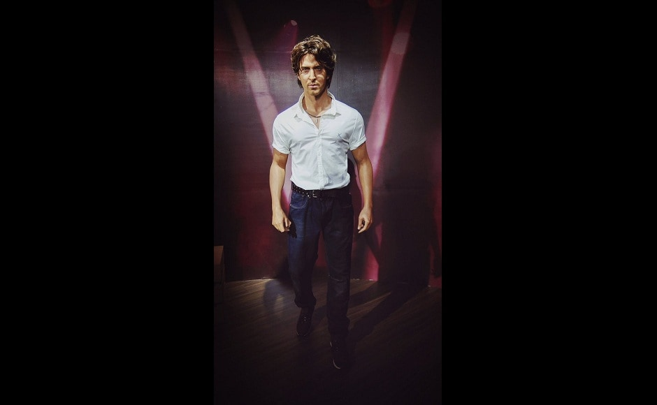 A wax figure of actor Hrithik Roshan at New Delhi's Madam Tussauds museum. Twitter/@tussaudsdelhi