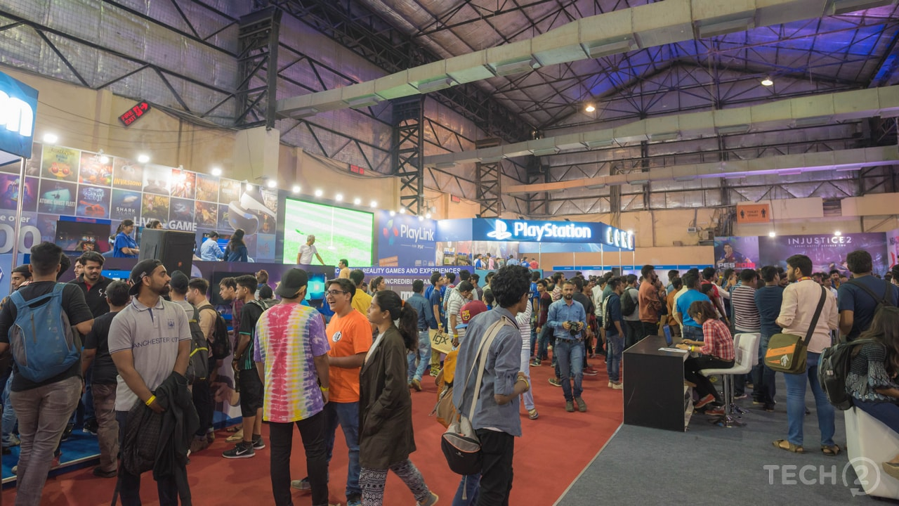 The gaming expo pulled a considerable number of people as the day progressed. Image: tech2/Rehan Hooda