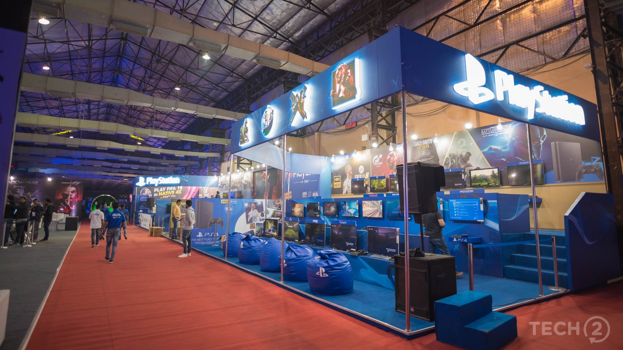 Similar to the last year, Sony had a large presence at the Expo with booths dedicated to AAA console titles, VR titles and PlayLink games. Image: tech2/Rehan Hooda