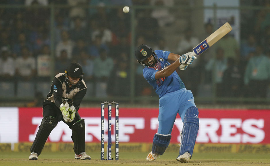 Kane Williamson put the hosts to bat first after winning the toss. Rohit Sharma started cautiously with openingpartner Shikhar Dhawan and some sloppy Kiwi fielding allowed the duo to settle comfortably. AP