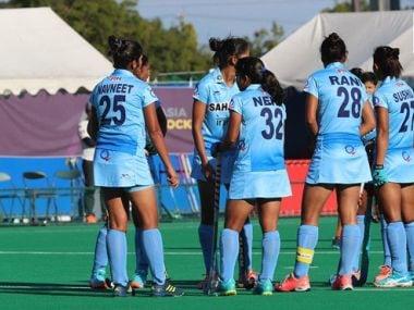 File image of Indian women's hockey team. Image courtesy: Twitter @TheHockeyIndia