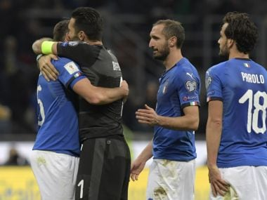 Italy failed to qualify for a World Cup after 60 years. AFP