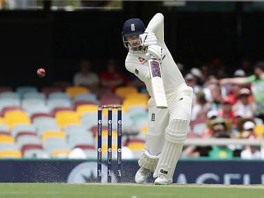 England's James Vince in action on day one of the first Ashes Test in Brisbane. AP