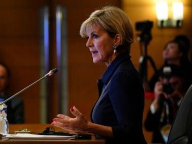 File image of Australian foreign minister Julie Bishop. Reuters