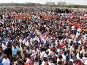File image of the protests by the Rajput community along with Karni Sena members against the film Padmavati. PTI