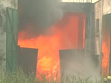 West Bengal: Fire breaks out at rubber factory in Kolkatas Chowbaga area, no injuries reported