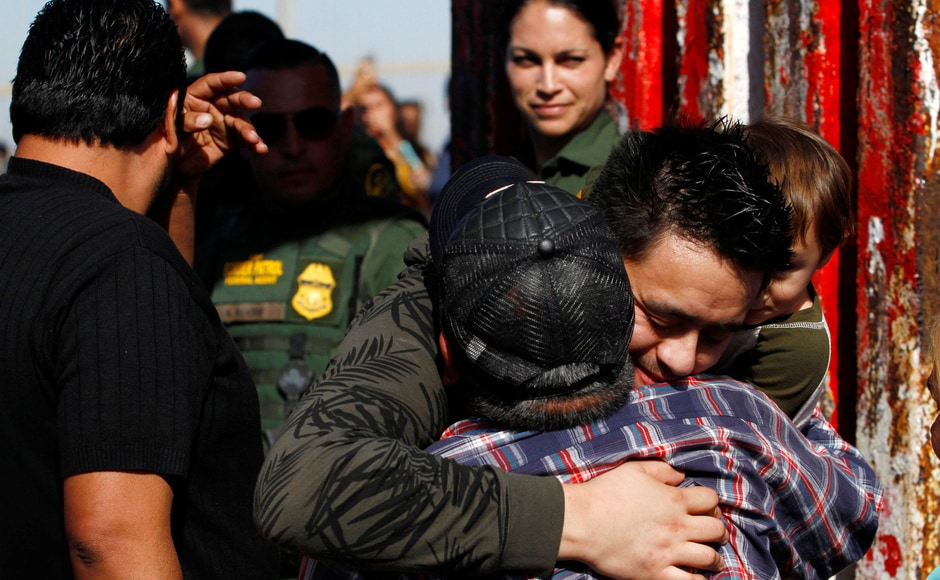 It was the sixth time that the gate has opened since 2013, allowing people from the US and Mexico who cannot legally cross the border to visit without fear of deportation. At other times, families can talk but not touch through the steel fencing. Reuters