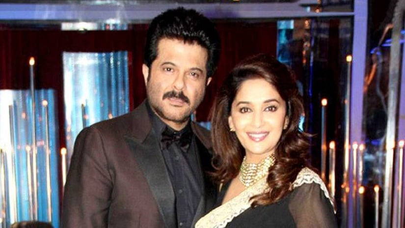 Madhuri Dixit and Anil Kapoor. Image via Facebook