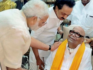 Narendra Modi meets Karunanidhi; PM stumps rivals myth of intolerance against opponents with warmth towards Kalaignar