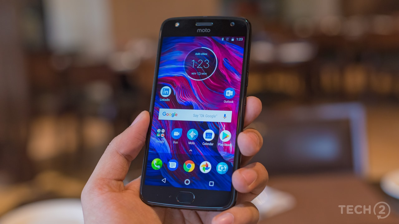 Motorola Moto X4 has been priced in India at Rs 20,999 for the 3 GB RAM variant and Rs 22,999 for the 4 GB RAM variant with 64 GB of storage. Image: tech2/ Rehan Hooda