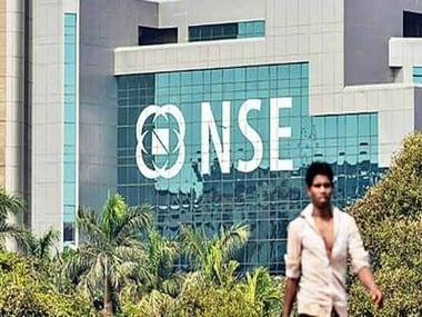 NSE building. PTI.