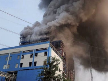 File image of the blast at NTPC. PTI
