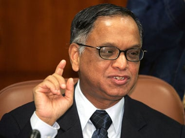 File image of Narayana Murthy. Reuters.