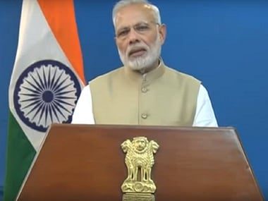 Prime Minister Narendra Modi in his televised address to the nation on 8 November, 2016. Courtesy: YouTube/Bharatiya Janata Party
