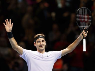 Roger Federer reached the semi-finals of the ATP Finals with win over Alexander Zverev. AP