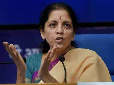 File image of Union defence minister Nirmala Sitharaman. PTI