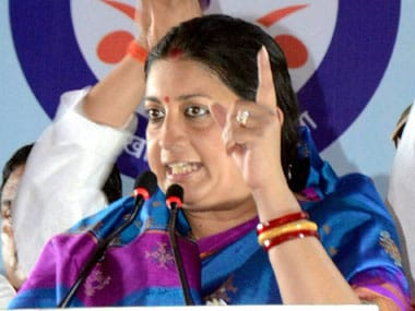File image of Smriti Irani. PTI