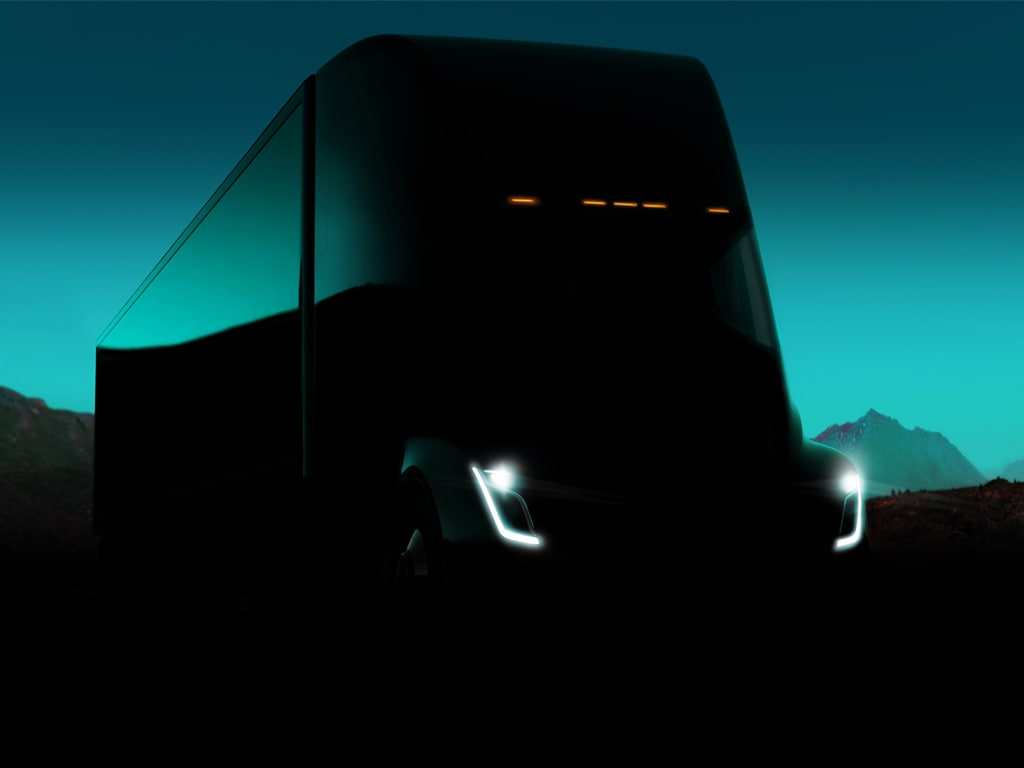 The truck is a wedge-shaped, streamlined powerhouse