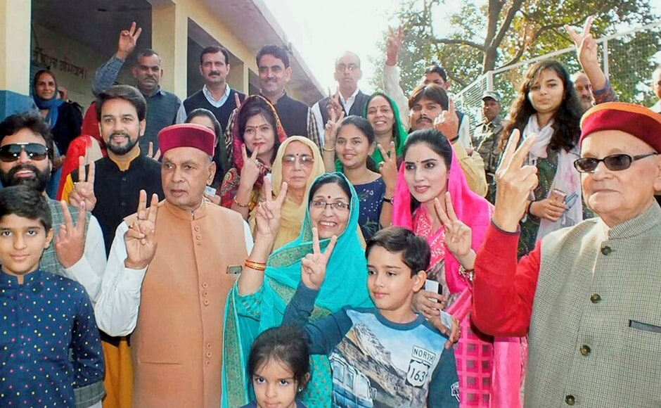 Voting began in the hill state of Himachal Pradesh on Thursday in 68 constituencies where 337 candidates, including 62 MLAs, are in the fray. Virbhadra Singh and PK Dhumal are the Congress and BJP's faces in the elections. PTI