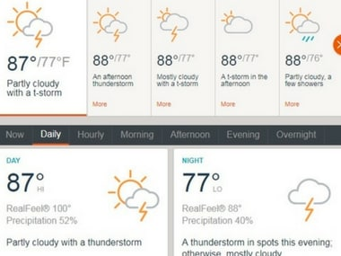 Screenshot from accuweather.com