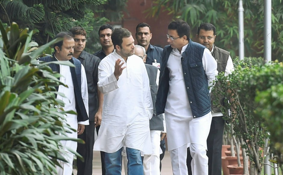 Interacting with members of the Unorganised Workers' Congress, Rahul Gandhi urged them to participate in the fight for the rights of the unorganised workers.