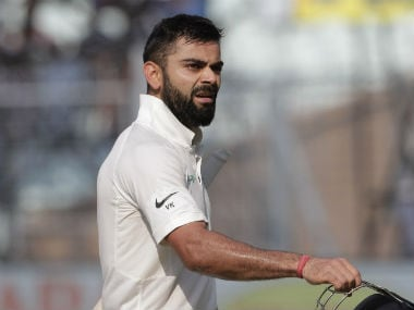 Virat Kohli is now the joint-holder of most international tons as an Indian captain in a calendar year. AP
