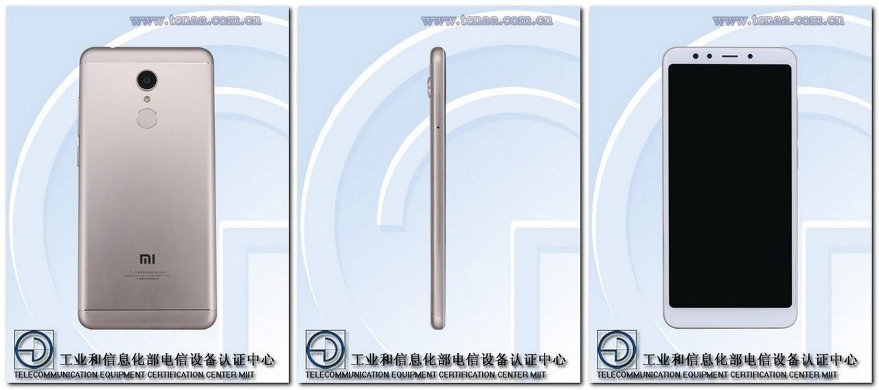 Xiaomi Redmi 5. TENAA
