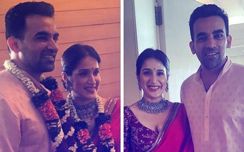 Zaheer Khan, Sagarika Ghatge wedding: Couple ties the knot; reception to be held on 27 November