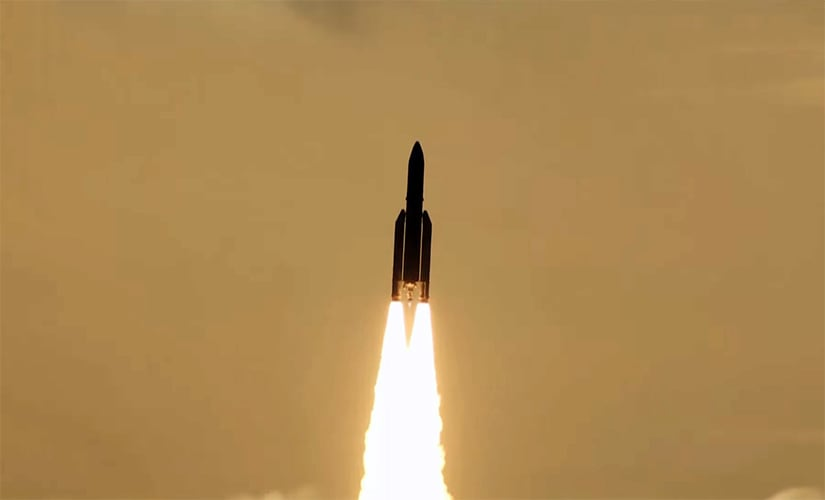 Arianespace Flight VA238 with ISRO's GSAT-17 on board, lifting off from the Spaceport in French Guiana.
