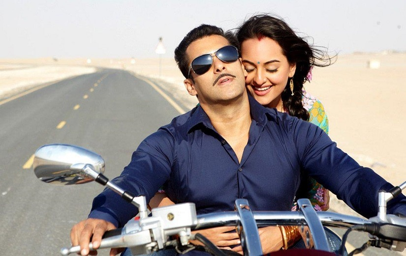 Sonakshi Sinha and Salman Khan in Dabanng. Image from Facebook/@DabanngMovieOfficial