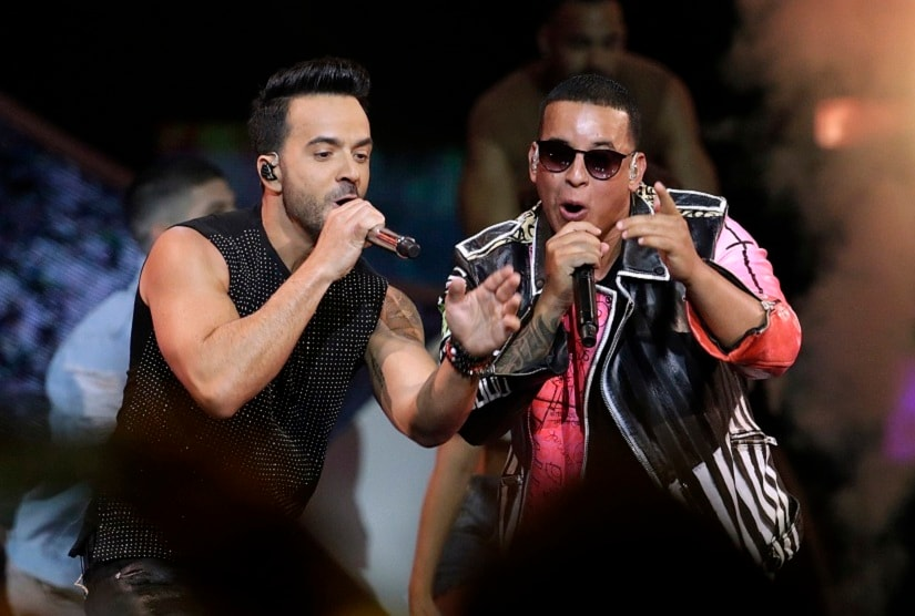 Luis Fonsi and Daddy Yankee perform during the Latin Billboard Awards. Image from AP/Lynne Sladky