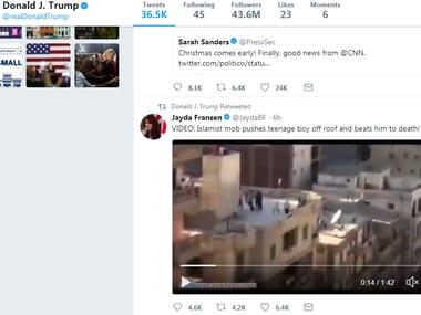 Screengrab of the Donald Trump's twitter account.