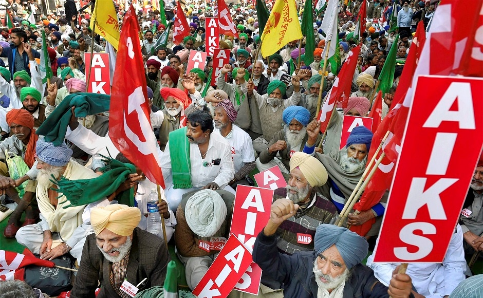 Thousands of farmers gathered at Ramlila Maidan in Delhi on Monday to demand for