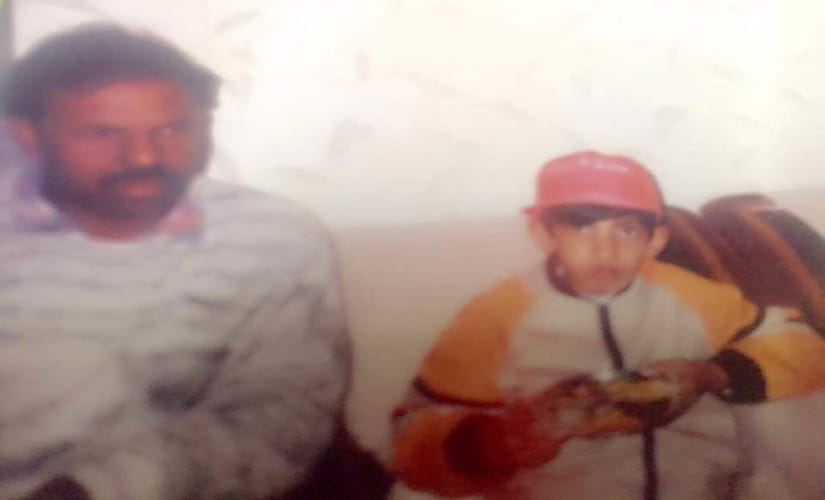 Sanjay Bhardwaj (L) with a very young Gautam Gambhir. Facebook/ Sanjay Bhardwaj
