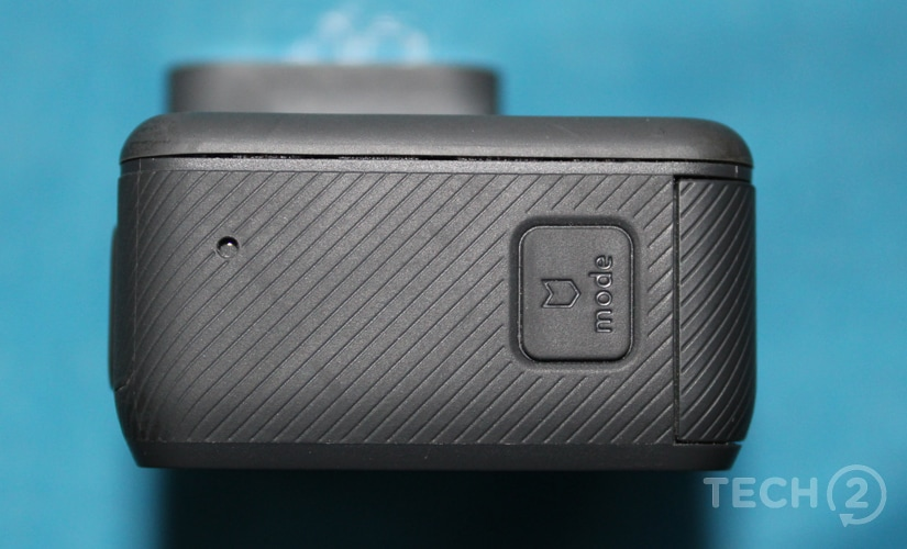 The HighLite button on the side can be used to turn off the camera.