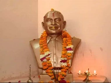 Statue of Nathuram Godse installed by Nathuram Godse. News18