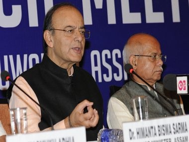 Arun Jaitley addressing the media on Friday. Twitter/@arunjaitley