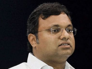 A file photo of Karti Chidambaram. News18