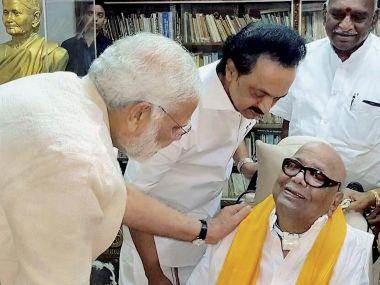Narendra Modi-Karunanidhi meet shows BJP recognises DMKs political heft in post-Jayalalithaa Tamil Nadu