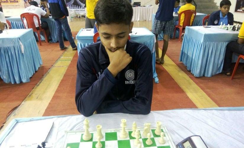 Kumar Gaurav in action.