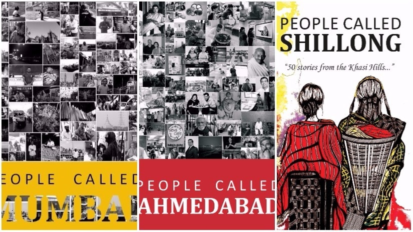 The anthologies on Mumbai, Ahmedabad, Shillong, published by the People Place Project