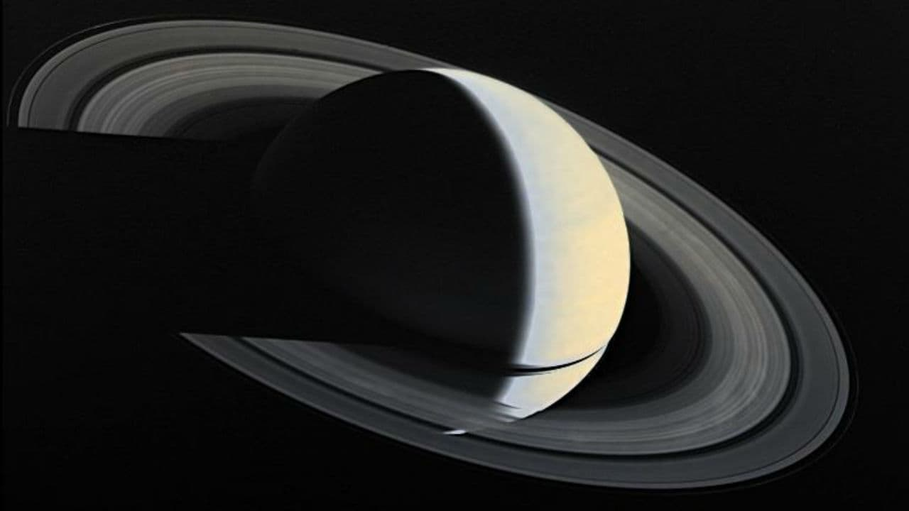 The final image of Saturn captured by the Voyager 1 Spacecraft. Image: NASA.