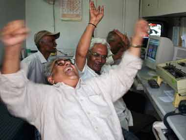 Sensex zooms 414 points to 33,521; Nifty races past 10,300 as Moodys ups Indias sovereign rating to Baa2
