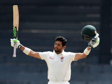 Zimbabwe's Sikandar Raza during the one-off Test against Sri Lanka. AFP
