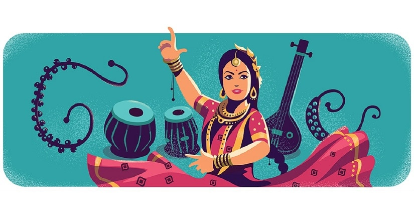 Sitara Devi. Image from Twitter/@DailyGoogler