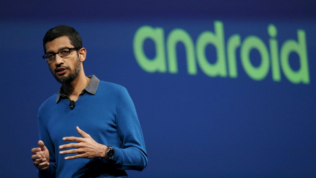 File image of Sundar Pichai. Reuters