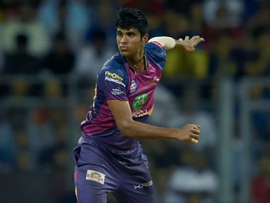 File image of Washington Sundar when he turned up for Rising Pune Supergiant. AFP